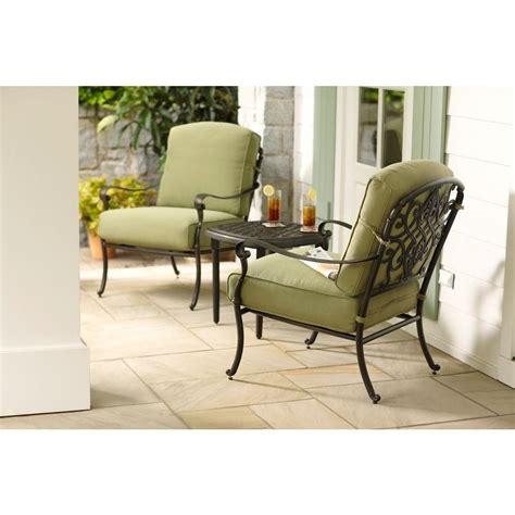 hton bay edington 3 patio seating set with celery