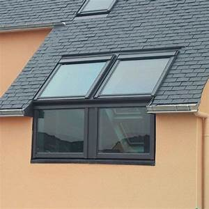 Velux twin sloping and vertical roof window combination for Cupola windows