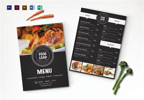 top   psd restaurant menu templates