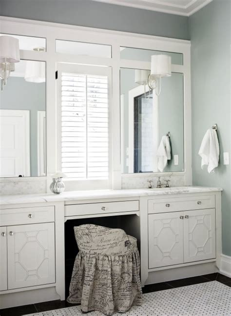 classic  bath vanity double sinks vanity window