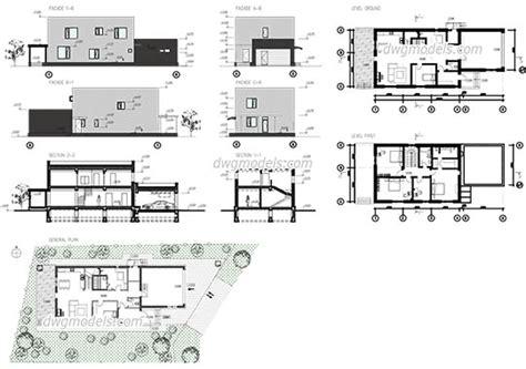 swimming pool house plans villas dwg models free