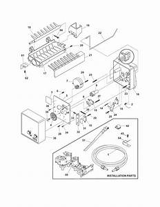 Ice Maker Diagram  U0026 Parts List For Model Frs6r5esb6