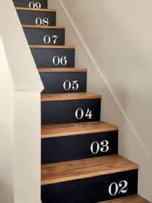 Escalier Bois Peint Noir by Escalier Peint Inspiration Couleur Et D 233 Co Deco Cool