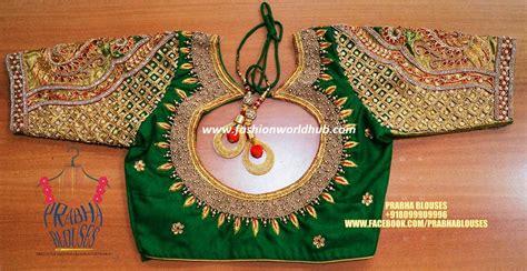 kundan peacock beads blouse fashionworldhub