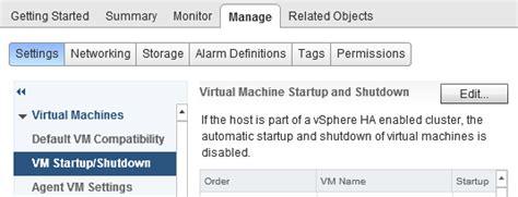 Setting Guest Restart Order For Vmware Ha Failover?