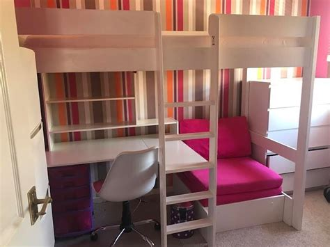Loft Bed With Sofa Underneath by Single Bunk Bed With Desk And Sofa Bed Chair Underneath