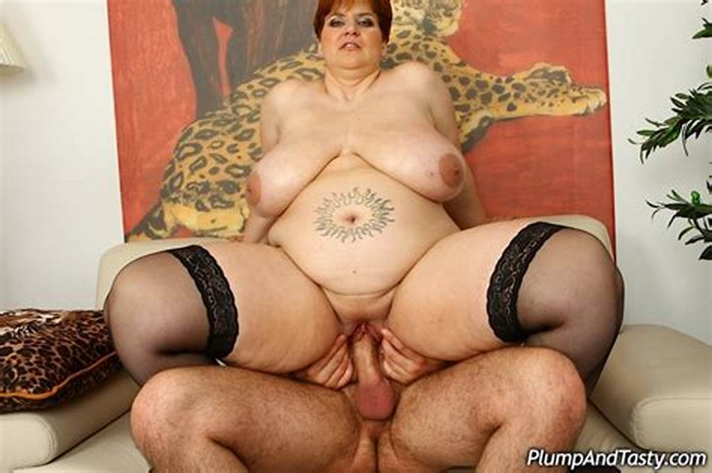 #Huge #Bitch #In #Black #Stockings #Takes #It #In