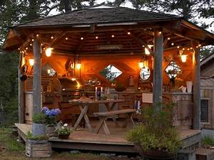 Rustic Outdoor Kitchen Gazebo - Rustic - other metro - by
