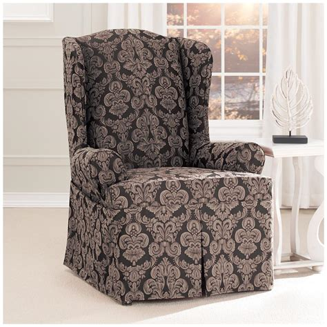 sure fit wing chair slipcover sure fit middleton wing chair slipcover 581238