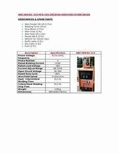 Nbc series 315 co2 welding machines diode based