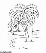 Tree Coloring Palm Trees Printable תמר צ�יעה עצי דף sketch template