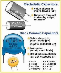 Difference Between Electrolytic Capacitors And Disc    Ceramic Capacitors