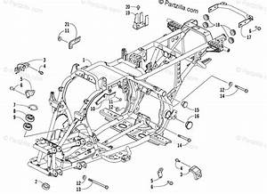 Arctic Cat Atv 2006 Oem Parts Diagram For Frame And Related Parts Assembly