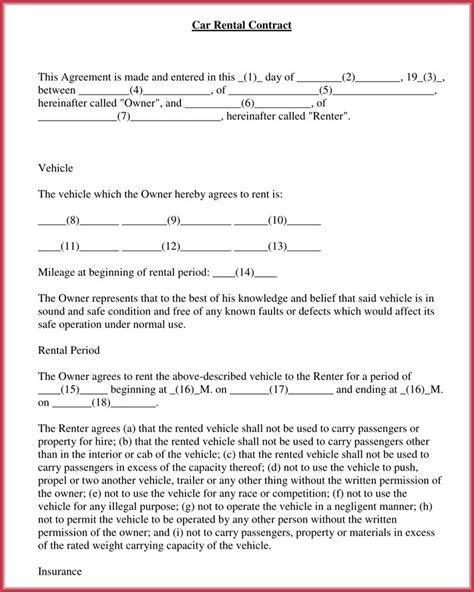 car rental agreement laustereocom