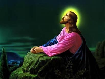 Jesus Christ Praying Wallpapers Background Prayer Gethsemane