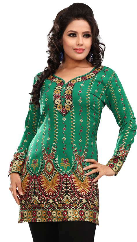 indian blouses indian tunic tops womens kurti printed blouse india