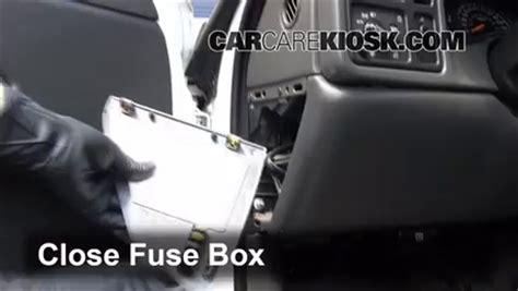 interior fuse box location   chevrolet silverado