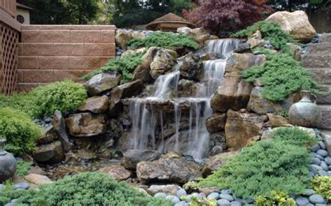 rock garden with waterfall 21 waterfall ideas to add tranquility to rock garden design