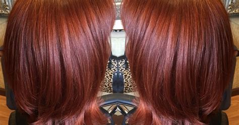 Gorgeous Vibrant Red Copper Color Created Using Redken