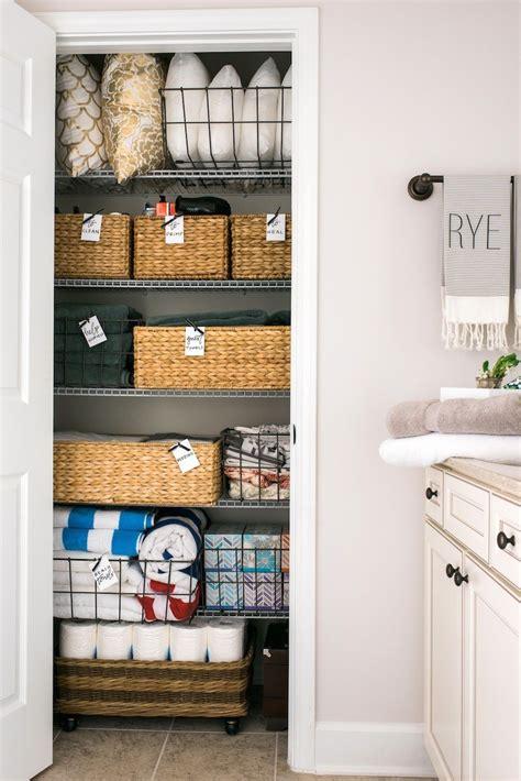 Bathroom Linen Closet Organization Ideas by How To Reorganize Your Linen Closet