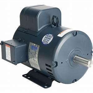 Leeson Reversible Electric Motor  U2014 5 Hp  1 740 Rpm  230