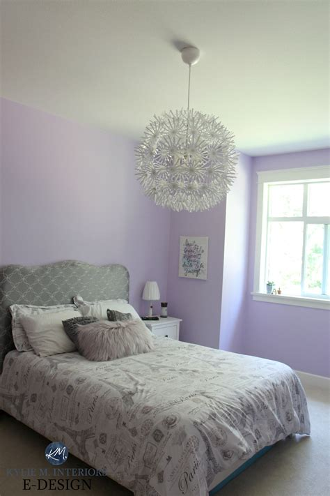 best purple paint colour benjamin moore lily lavender in