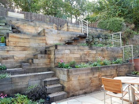 steep slope garden designs garden designer staffordshire