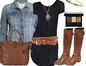 Idée De Tenue : robe noire toute simple avec une veste en jean inratable ~ Melissatoandfro.com Idées de Décoration