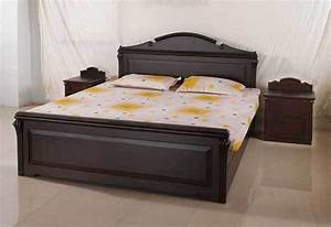 wooden bed design in india - Home design