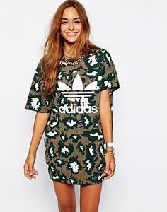 agrandir adidas originals robe t shirt asymetrique a With robe streetwear