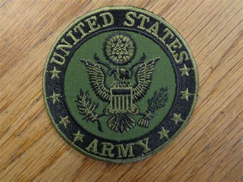 Us Army Subdued Military Service Branch Vest Patch