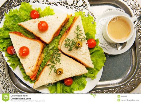 made canape home made canape sandwiches royalty free stock image