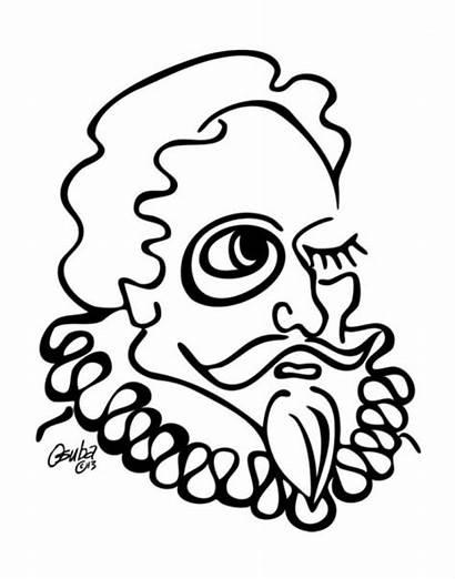 Cervantes Miguel Drawing Quixote Clipartmag Don