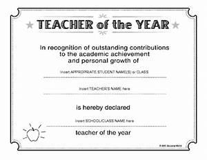 teacher of the year award certificate template With teacher of the month certificate template