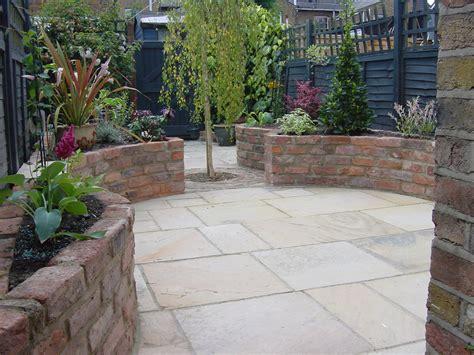 Patio Raised Garden Beds with Bricks
