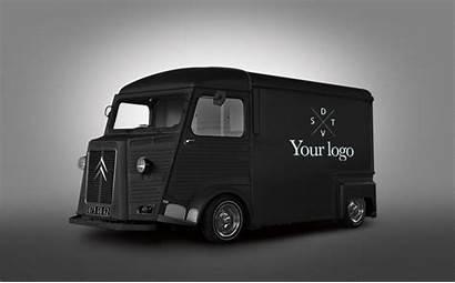 Van Mockup Truck Psd Template Hipster Behance