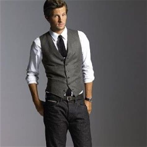 Grey suit vest with jeans | Groom | Pinterest | Suits Grey vest and Groom outfit