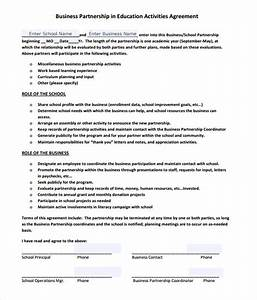 business partnership agreement 8 free samples With company partnership agreement template