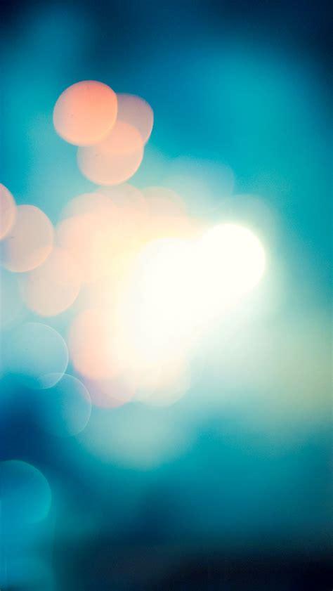 soft blue light bokeh blur iphone  wallpaper hd