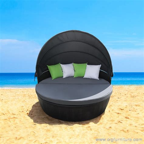 new wicker outdoor furniture day bed sun lounge setting