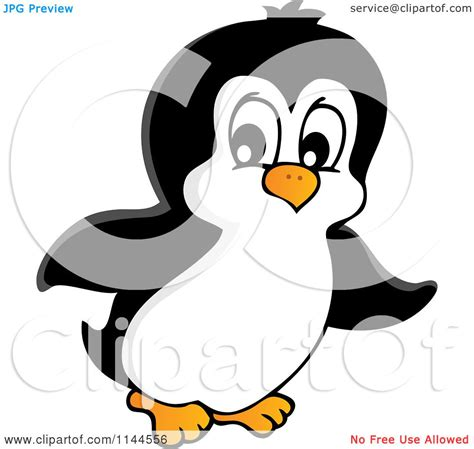 Cartoon Of A Cute Little Penguin 1 Royalty Free Vector
