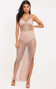Rose Gold Sprühlack : paizlee rose gold metallic knit halter neck dress dresses prettylittlething usa ~ Avissmed.com Haus und Dekorationen