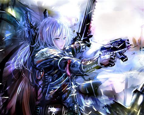 digital art gun anime adepta sororitas wallpapers hd
