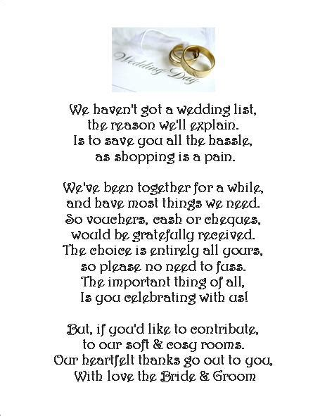 wedding money request poem cards 3 different poems wedding day rings of 24
