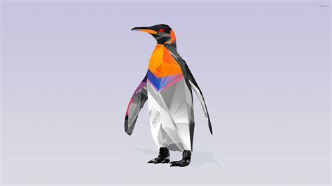 Polygon Animal Wallpaper - polygon penguin wallpaper vector wallpapers 26700