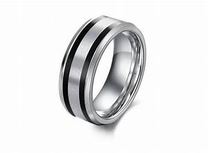 lovely rubber wedding rings for men silver With rubber wedding rings for men
