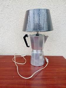 Lampe Italienne Pipistrello : lampe poser lampe de chevet cafeti re italienne d tourn e recycl e en lampe de table ~ Farleysfitness.com Idées de Décoration