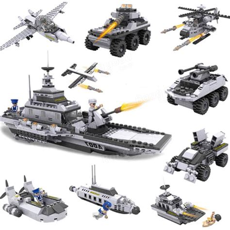 cogo aircraft carrier blocks airplane ship 8 in 1 building blocks 743 pcs toys