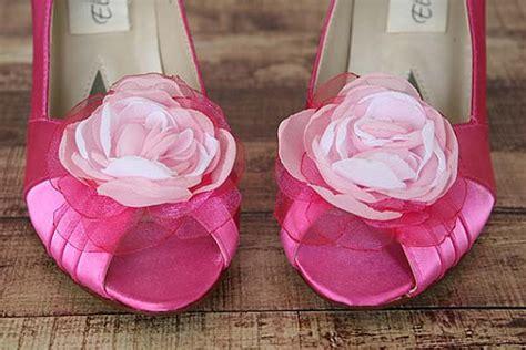 Wedding Shoes -- Fuschia Peep Toe Wedding Shoes With Pink