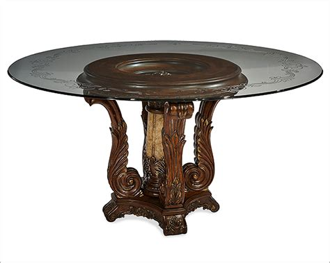 Kitchen Counter Decorative Items by Aico Victoria Palace Round Glass Top Dining Table Ai 61001 29